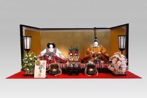 雛人形(ひな人形)親王飾り 小西清甫 黄櫨染